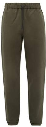 A.P.C. Elasticated Cotton Blend Twill Slim Leg Chinos - Mens - Khaki