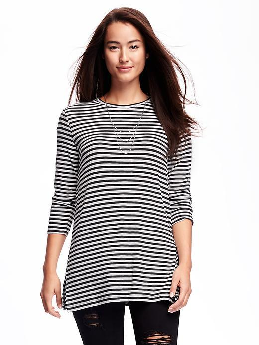 Long & Lean Rib-Knit Tunic for Women