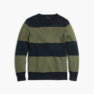 J.Crew Cotton crewneck sweater in rugby stripe
