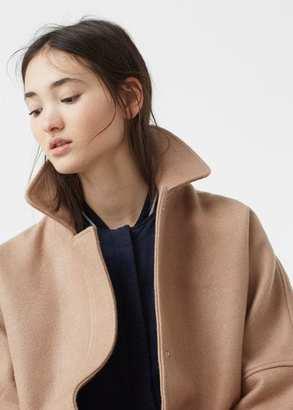 MANGO Cocoon Wool-Blend Coat $99.99 thestylecure.com
