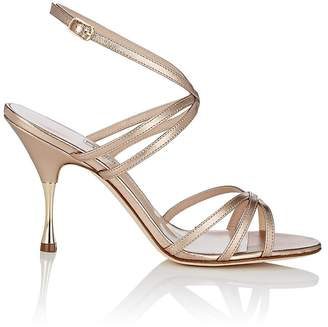 Manolo Blahnik Women's Naropla Metallic Leather Sandals