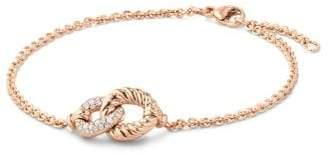 David Yurman Belmont® Curb Link Pendant Bracelet With Diamonds In 18K