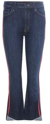 Mother The Insider Crop Step Fray striped jeans