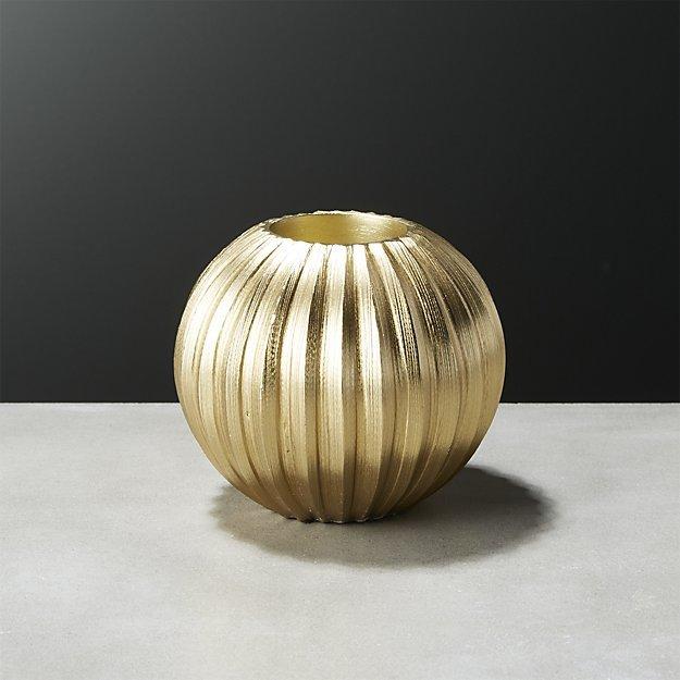Slice Gold Tea Light Holder