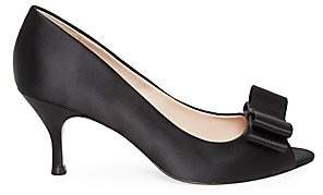 Kate Spade Women's Cecelia Satin Peep Toe Pumps