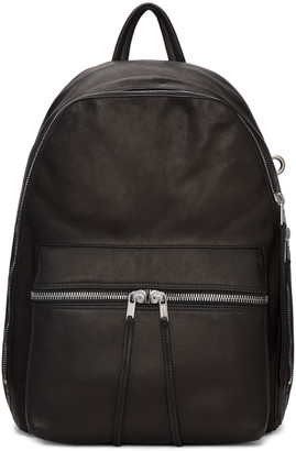 Rick Owens Black Leather Backpack $1,600 thestylecure.com