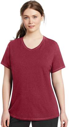 Champion Plus Size V-Neck Tee