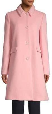 Emporio Armani Classic Wool-Blend Three-Button Coat