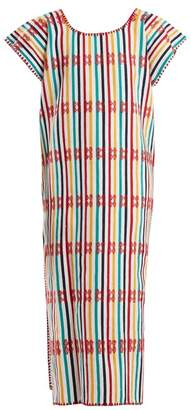 Pippa holt Holt - No.45 Embroidered Cotton Kaftan - Womens - Red