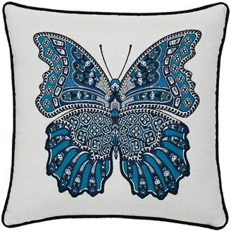 Elaine Smith Mariposa Azure Indoor/Outdoor Accent Pillow