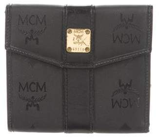 MCM Leather-Trimmed Compact Wallet