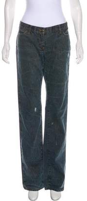 Just Cavalli Mid-Rise Straight-Leg Jeans w/ Tags