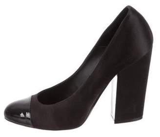 Chanel Cap-Toe High-Heel Pumps