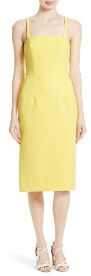 Women's Milly Elle Stretch Crepe Sheath Dress