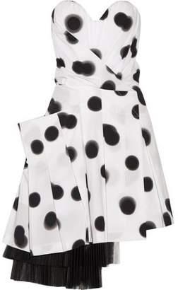 Marc by Marc Jacobs Blurred Dot Stretch-cotton Poplin Mini Dress