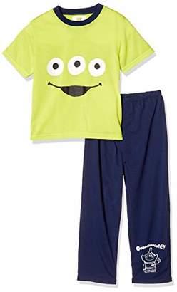 Disney (ディズニー) - [ディズニー] エイリアン天竺パジャマ半袖長ズボン 371104400 グリーン 日本 130 (日本サイズ130 相当)