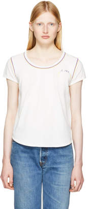 Marc Jacobs Ivory 70s Cap Sleeve T-Shirt