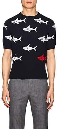 Thom Browne MEN'S SHARK-PATTERN COTTON SHIRT