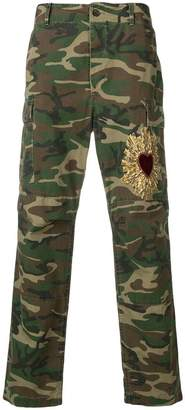 Dolce & Gabbana embroidered cargo trousers