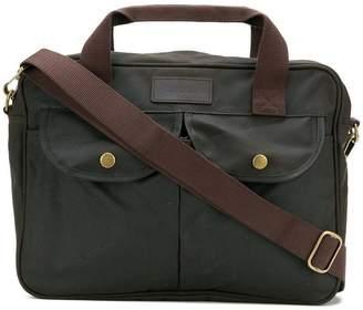 Barbour logo patch briefcase