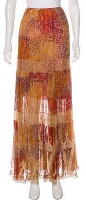 Oscar de la Renta Printed Maxi Skirt