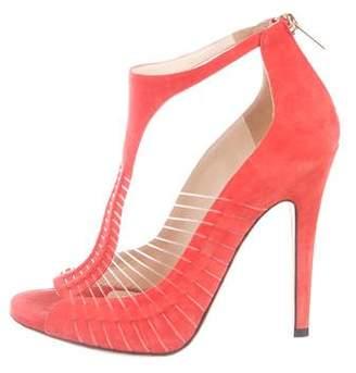 338b2d598791 Jimmy Choo Orange Covered Heels Sandals For Women - ShopStyle Canada