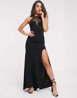 TFNC high neck lace maxi dress