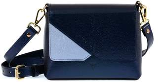 Atelier Hiva Mini Mare Leather Bag Metallic Navy Blue & Baby Blue