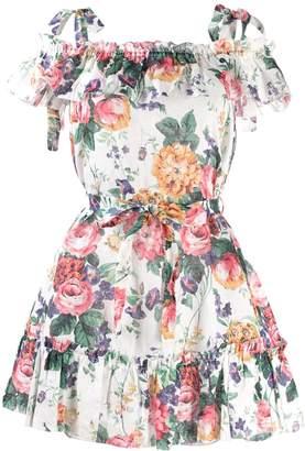 Zimmermann floral ruffle mini dress