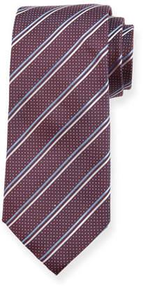 BOSS Two-Tone Stripe Silk Tie