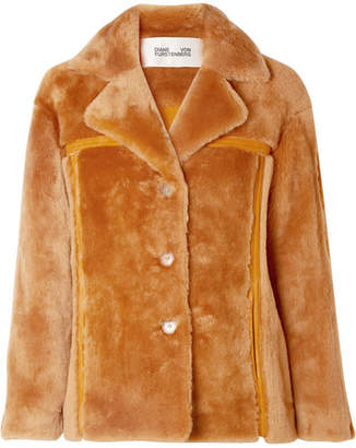 Diane von Furstenberg Shearling Jacket - Orange