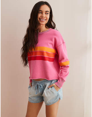 aerie Striped Pullover Sweatshirt