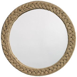 """Jamie Young Braided 20"""" Jute Accent Mirror - Natural"""