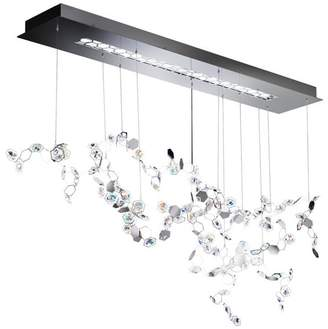 Swarovski 48x35in 3-Light Contemporary Pendant by in Stainless Steel