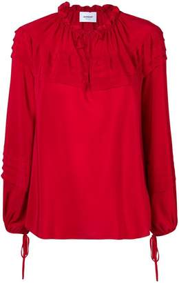 Dondup pintucked trim blouse