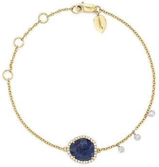 Meira T 14K Yellow and White Gold Sapphire Bracelet with Diamonds