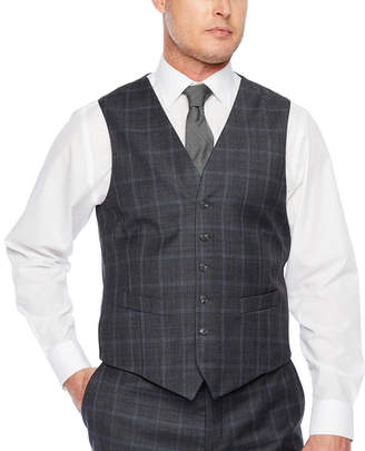 STAFFORD Stafford Checked Classic Fit Stretch Suit Vest