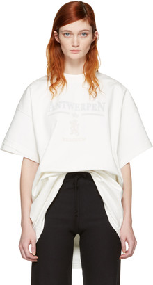 Vetements White Hanes Edition Oversized Double Antwerpen T-Shirt $690 thestylecure.com