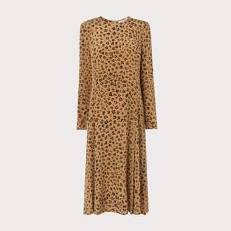 LK Bennett Leanie Leopard Print Silk Dress
