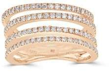 Saks Fifth Avenue Diamond and 14K Rose Gold Four-Row Ring