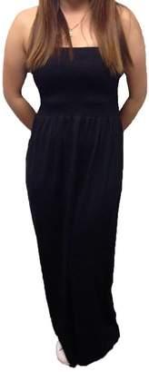 Michi Dona Sexy Long Tube Seamless Basic Strapless Tube Tunic Stretch Tube Dress_