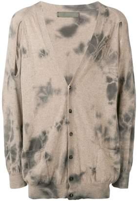Di Liborio tie dye buttoned cardigan