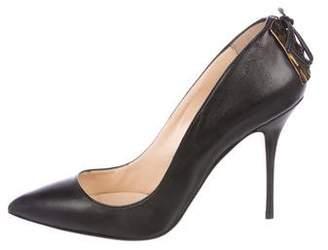 Alberto Fermani Leather Pointed-Toe Pumps