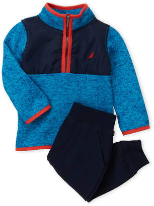 Nautica Infant Boys) Two-Piece Quarter-Zip Sweater & Jogger Set