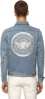 Balmain Embroidered Cotton Denim Jacket