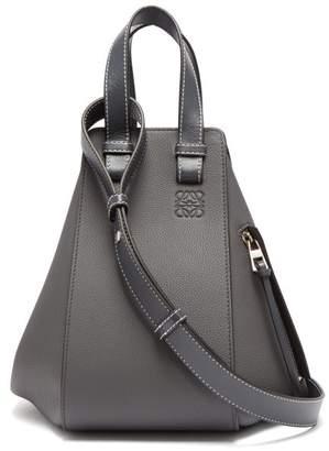 Loewe - Hammock Small Grained Leather Bag - Womens - Dark Grey