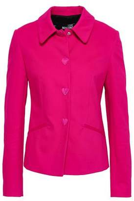 Love Moschino Button-detailed Cotton-blend Sateen Jacket