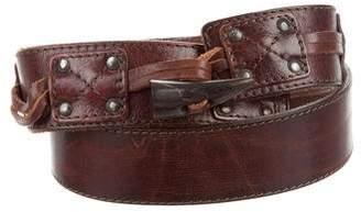 DSQUARED2 Leather Toggle Belt