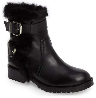 Charles David Reno Faux Fur Leather Boot