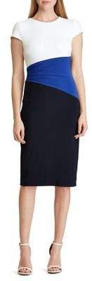 Lauren Ralph Lauren Colorblocked T-Shirt Dress